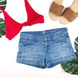 7 For all Mankind Lindsay Denim Shorts